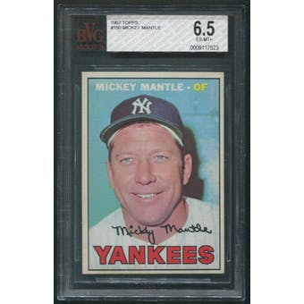 1967 Topps Baseball #150 Mickey Mantle BGS 6.5 (EX-MT+)