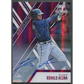 2017 Elite Extra Edition #31 Ronald Acuna Aspirations Purple Rookie Auto #066/100