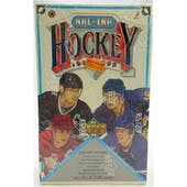 1991/92 Upper Deck English High # Hockey Wax Box (Reed Buy)
