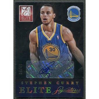 2013/14 Elite #30 Stephen Curry Signatures Auto #34/49