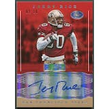 2016 Donruss Signature Series #179 Jerry Rice Holo Silver Auto #02/10
