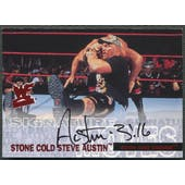 2001 Fleer WWF WrestleMania #NNO Stone Cold Steve Austin Signature Moves Auto #141/500