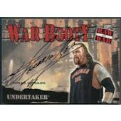 2001 Fleer WWF Raw Is War #NNO Undertaker War Booty Auto