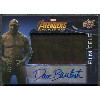 2018 Avengers Infinity War #FCADB Dave Bautista Film Cels Auto #039/100