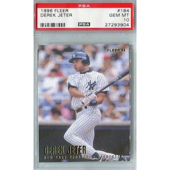 1996 Fleer Baseball #184 Derek Jeter PSA 10 (GM-MT) *3904 (Reed Buy)