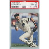 1997 Fleer Baseball #168 Derek Jeter PSA 10 (GM-MT) *2912 (Reed Buy)