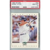 1997 Score Baseball #35 Derek Jeter PSA 10 (GM-MT) *5384 (Reed Buy)