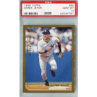 1999 Topps Baseball #85 Derek Jeter PSA 10 (GM-MT) *4761 (Reed Buy)