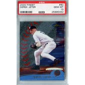 2000 Topps Finest Baseball #60 Derek Jeter PSA 10 (GM-MT) *5452 (Reed Buy)