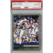 2000 Topps Baseball #15 Derek Jeter PSA 10 (GM-MT) *1242 (Reed Buy)