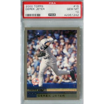 2000 Topps Baseball #15 Derek Jeter PSA 10 (GM-MT) *1242 (Reed Buy)