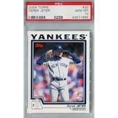 2004 Topps Baseball #20 Derek Jeter PSA 10 (GM-MT) *1665 (Reed Buy)