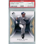 2007 Upper Deck SP Authentic Baseball #81 Derek Jeter PSA 10 (GM-MT) *0002 (Reed Buy)