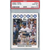 2008 Topps Baseball #455 Derek Jeter PSA 10 (GM-MT) *7079 (Reed Buy)