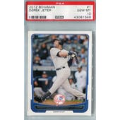 2012 Bowman Baseball #1 Derek Jeter PSA 10 (GM-MT) *1349 (Reed Buy)