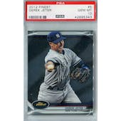 2012 Topps Finest Baseball #5 Derek Jeter PSA 10 (GM-MT) *5343 (Reed Buy)
