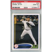 2012 Topps Baseball #30 Derek Jeter PSA 10 (GM-MT) *8472 (Reed Buy)