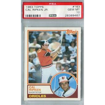 1983 Topps Baseball #163 Cal Ripken Jr PSA 10 (GM-MT) *9467 (Reed Buy)