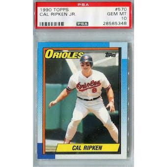 1990 Topps Baseball #570 Cal Ripken Jr PSA 10 (GM-MT) *5348 (Reed Buy)