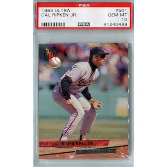 1993 Fleer Ultra Baseball #501 Cal Ripken Jr PSA 10 (GM-MT) *0469 (Reed Buy)