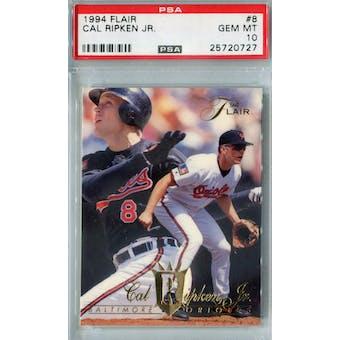 1994 Fleer Flair Baseball #8 Cal Ripken Jr PSA 10 (GM-MT) *0727 (Reed Buy)
