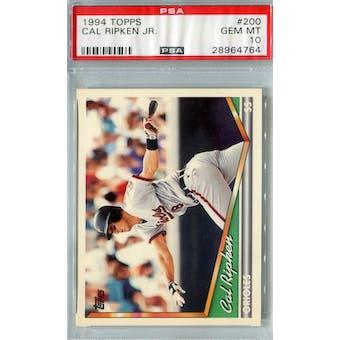 1994 Topps Baseball #200 Cal Ripken Jr PSA 10 (GM-MT) *4764 (Reed Buy)