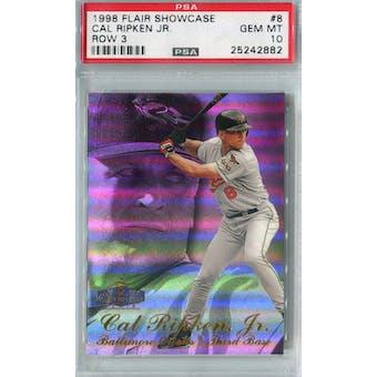 1998 Fleer Flair Showcase Baseball #8 Cal Ripken Jr PSA 10 (GM-MT) *2882 (Reed Buy)