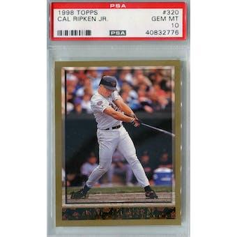 1998 Topps Baseball #320 Cal Ripken Jr PSA 10 (GM-MT) *2776 (Reed Buy)