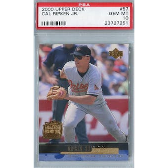 2000 Upper Deck Baseball #57 Cal Ripken Jr PSA 10 (GM-MT) *7251 (Reed Buy)
