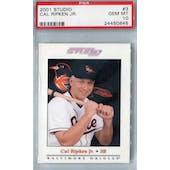 2001 Donruss Studio Baseball #3 PSA 10 (GM-MT) *0845 (Reed Buy)