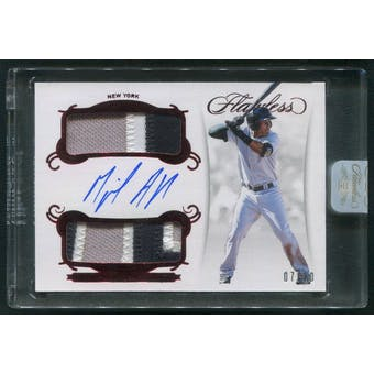 2018 Panini Flawless #14 Miguel Andujar Ruby Rookie Dual Patch Auto #07/20