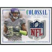 2014 Panini National Treasures #10 Cordarrelle Patterson Colossal Pro Bowl NFL Shield #1/1