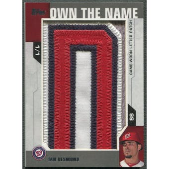 "2014 Topps #OTNID Ian Desmond Own the Name Letter ""D"" Patch #1/1"
