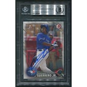 2016 Bowman Prospects #BP55 Vladimir Guerrero Jr. In Person Rookie Auto Beckett Authentic (BAS)