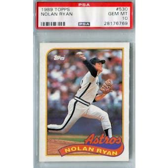 1989 Topps Baseball #530 Nolan Ryan PSA 10 (GM-MT) *6769 (Reed Buy)