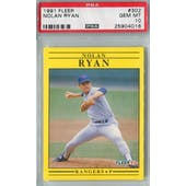1991 Fleer Baseball #302 Nolan Ryan PSA 10 (GM-MT) *4016 (Reed Buy)