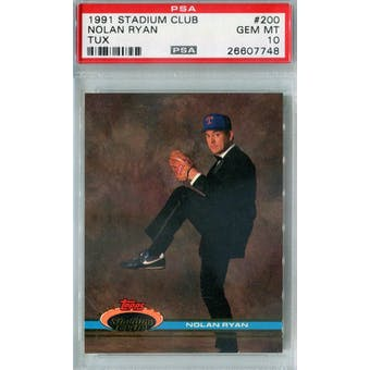 1991 Topps Stadium Club Baseball #200 Nolan Ryan PSA 10 (GM-MT) *7748 (Reed Buy)