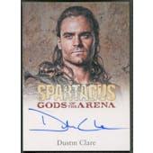 2012 Spartacus Gods of the Arena #3 Dustin Clare as Gannicus Auto