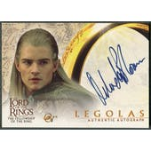 2001 Lord of the Rings Fellowship of the Ring #NNO Orlando Bloom as Legolas Auto