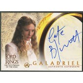 2001 Lord of the Rings Fellowship of the Ring #NNO Cate Blanchett as Galadriel Auto