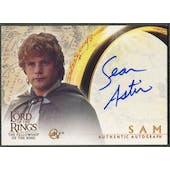 2001 Lord of the Rings Fellowship of the Ring #NNO Sean Astin as Sam Auto