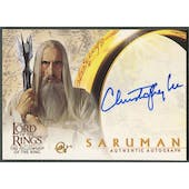 2001 Lord of the Rings Fellowship of the Ring #NNO Christopher Lee as Saruman Auto