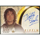 2001 Lord of the Rings Fellowship of the Ring #NNO Billy Boyd as Pippin Auto