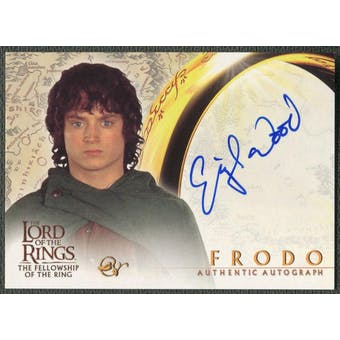 2001 Lord of the Rings Fellowship of the Ring #NNO Elijah Wood as Frodo Auto