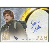 2003 Lord of the Rings Return of the King #NNO Sean Astin as Sam Auto