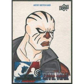 2016 Captain America Civil War Sketch Card Of Rage #1/1
