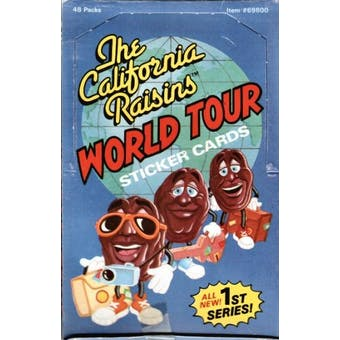 California Raisins World Tour Wax Box (1988 Zoot)