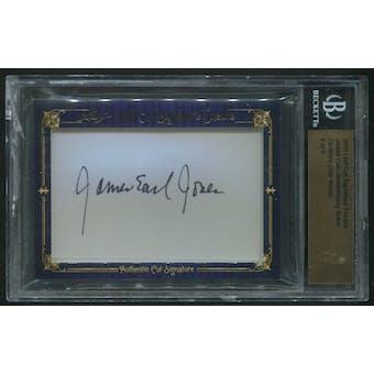 2010 Leaf Cut Signature Encore James Earl Jones & Kenny Baker Cut Auto #4/6