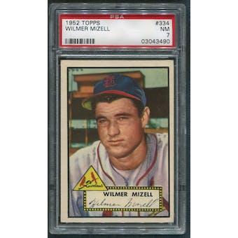 1952 Topps Baseball #334 Wilmer Mizell Rookie PSA 7 (NM)