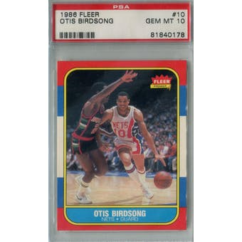 1986/87 Fleer Basketball #10 Otis Birdsong PSA 10 (GM-MT) *1078 (Reed Buy)